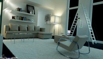 Indoor Minimalist Interior Space Scene
