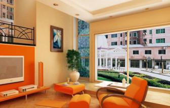 Warm Lighting Living Room Interior 3dmax Model