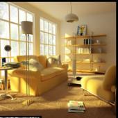 Romantic Living Room Free 3dmax Model Scene