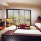 Modern Wooden Retro Living Room