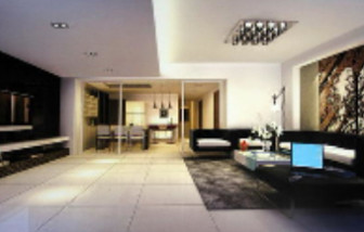 Modern Business-type Living Room 3d