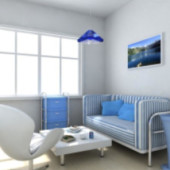 Reception Room Interior 3dmax Model
