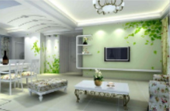 Natural Fresh Style Living Room Free 3dmax Model