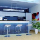Food Concession Counter Interior 3dsMAx Scene