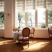 Elegant Cafe Space Interior 3dsMax