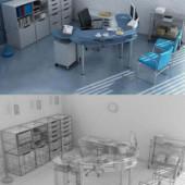 Minimalist Office Interior Free 3dmax Model