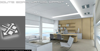 office space interior design free 3dmax model free download no6159