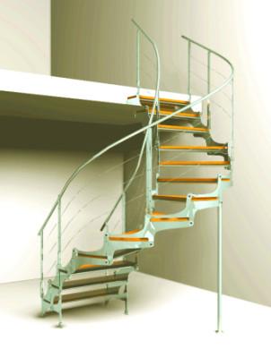 Spiral Staircase 3dmax Model Scene