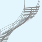 Metal Staircase Free 3dmax Model
