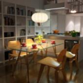 Modern Restaurant Kitchen 3dsMax Model