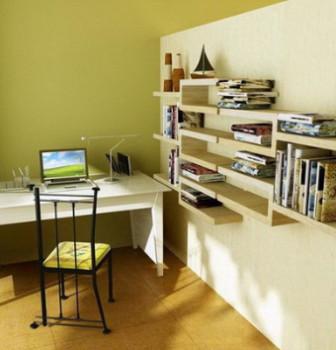 Modern Minimalist Study Rom Interior 3dsMax Scene