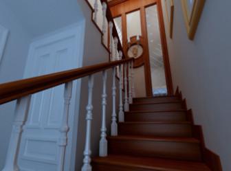 Wooden Stairwell Interior 3dsMax Model