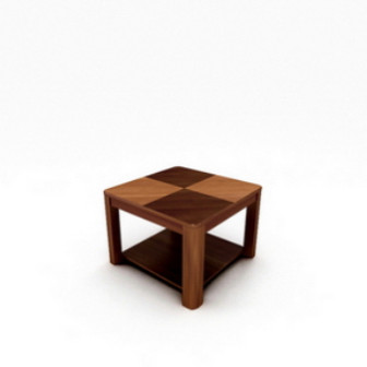 Modern Wooden Coffee Table 3dsMax Model