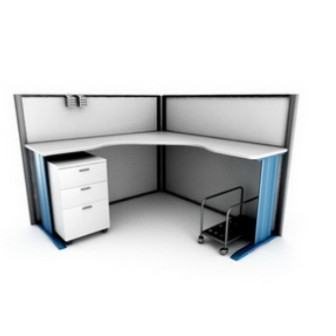 Office Desk Combination Furniture 3dsMax Model