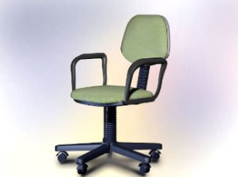 Office Furniture Swivel Chair Free 3dmax Model