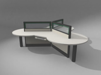 Modern Office Desk Furniture Free 3dmax Model