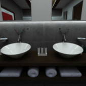 Bathroom  Indoor Space Design 3dmax Model