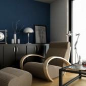 Free 3dmax Model Scene Modern European Study Room