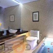 Simple Bathroom Interior 3dmax Model