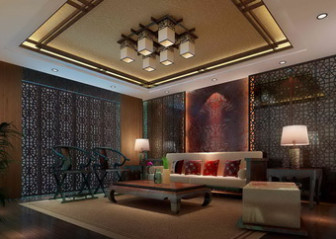 Chinese Living Room Interior Scene Free 3dmax Model