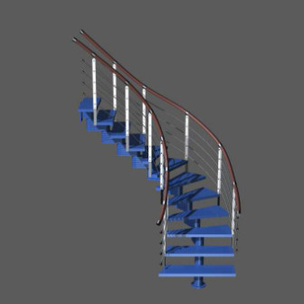 3d Model Curved Stair