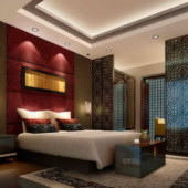 Chinese-style Luxury Bedroom Scene