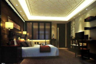 Dim Classical Chinese Bedroom