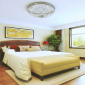 Modern Bright And Clean Chinese Bedroom Free 3dmax Model