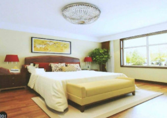 Modern Bright And Clean Chinese Bedroom
