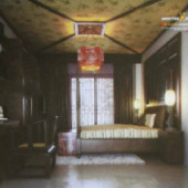 Chinese Classical Solid Wood Bedroom Free 3dmax Model