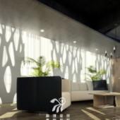 European Fashion Living Room Free 3dmax Model