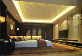 Chinese Traditional Dull Bedroom
