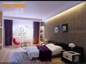 Fresh And Fashion Purple Bedroom