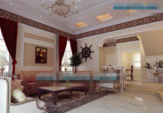 White Classic European Style Living Room
