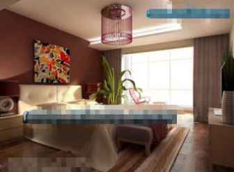 Abstract Paintings Fashion Bedroom