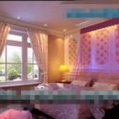European Style Warm Girl Bedroom