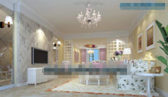 White Princess Style Living Room