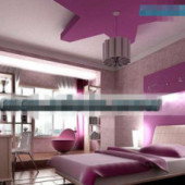Purple Pentacle Style Bedroom