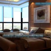 Large Bay Windows Deep Rhyme Bedroom