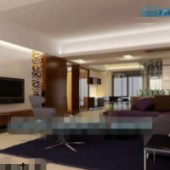 Commercial Living Room Free 3dmax Model