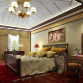 Golden Decoration Of Luxury Bedroom