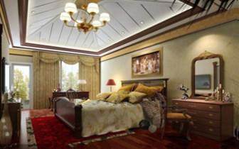 Golden Decoration Of Luxury Bedroom