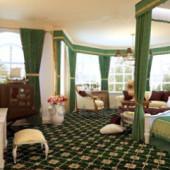 European Style Green Big Space Bedroom