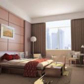 Brown Wooden Decoration Bedroom