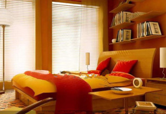 Comfortable And Warm Yellow Bedroom