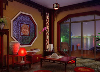Chinese Style Screen Retro Living Room