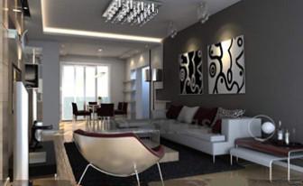 Modern Distinctive Colors Living Room