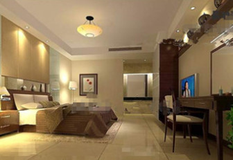 Modern Warm And Comfortable Bedroom