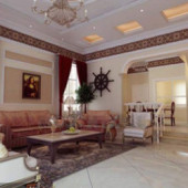 European Style Elegant Living Room