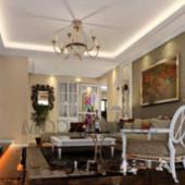 European Exquisite Small Living Room